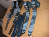 1978 - 1981 Camaro Trans Am Light Blue FULL Seat Belt Set GM