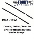 1982 - 1992 Camaro Trans Am OUTER Window Sweeps