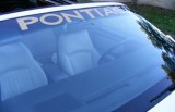 PONTIAC Windshield Decal Multiple Colors w/ INSTALL VIDEO