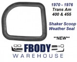 1970 - 1976 Trans Am Shaker Scoop Weather Seal *New*