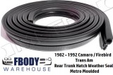 1982 - 1992 Camaro Trans Am Trunk Hatch Weather Seal NEW 16' Metro Moulded
