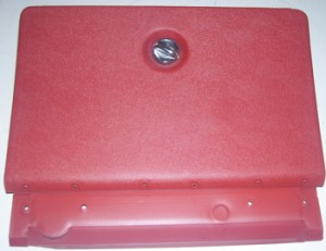 * 1970 - 1981 Trans Am Glove Box Door Firethorn Red for NON Air Conditioned Cars