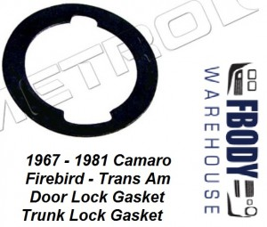 1970 - 1981 Camaro Trans Am Door Lock / Trunk Gasket Metro Moulded