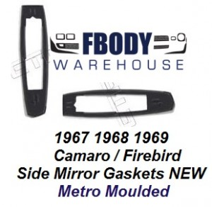 1967 - 1969 Camaro Firebird Side Mirror Filler Gaskets Metro Moulded