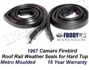 1967 Camaro Firebird Body Hull Weather Seals Metro Moulded