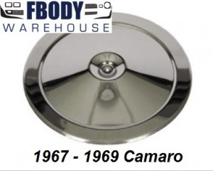 1967 - 1969 Camaro Chrome Air Cleaner Lid for open element and cowl inducton models