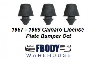 1967 - 1968 Camaro License Plate Bumper Set NEW 3 pc