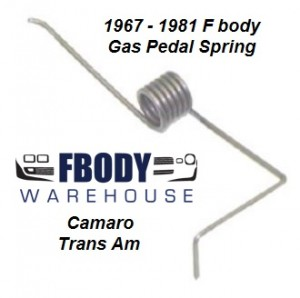 1967 - 1981 Camaro Trans Am Accelerator Pedal Tension Spring NEW