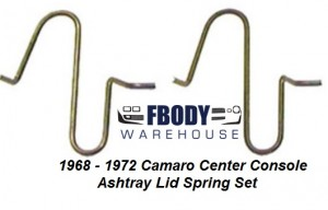 1968 - 1972 Camaro Center Console Ashtray Lid Springs PAIR