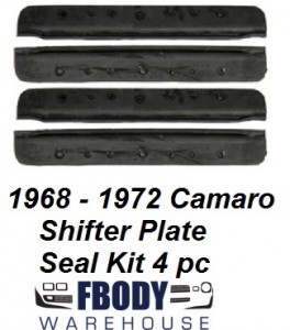 1968 - 1972 Camaro Center Console Horseshoe Shifter Bezel Plate Seal Kit 4 piece