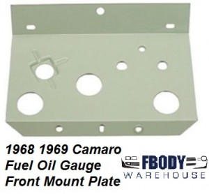 1968-1969 Camaro Console Oil Press.Gauge Face W// Screws Exact and Correct