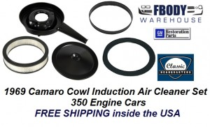 1969 Camaro Air Cleaner Assembly Cowl Induction 350 Models