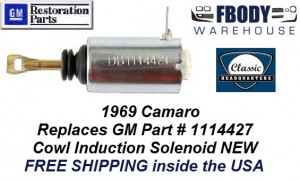 1969 Camaro Cowl Induction Flapper Solenoid