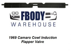 1969 Camaro Cowl Induction Flapper Valve