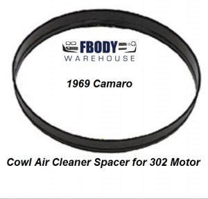 1969 Camaro Cowl Induction Air Cleaner Spacer 302 Motors