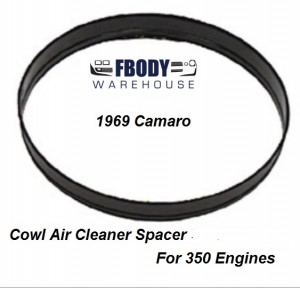1969 Camaro Cowl Induction Air Cleaner Spacer 350 Motors