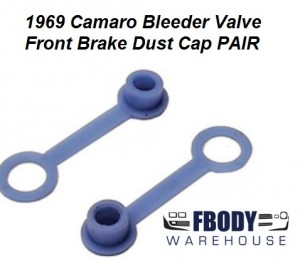 1969 Camaro Firebird Front Disc Brake Bleeder Valve Dust Cap (PAIR)