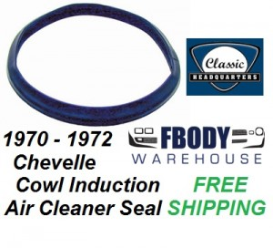 1970 - 1972 Chevelle Cowl Induction Air Cleaner Weather Seal Gasket