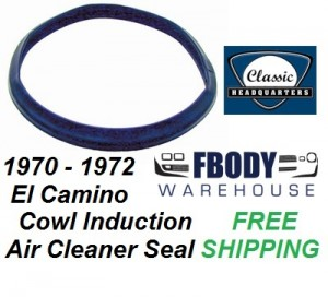1970 - 1972 El Camino Cowl Induction Air Cleaner Weather Seal Gasket