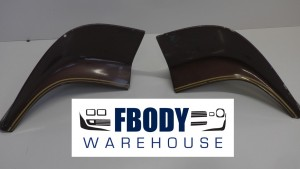 1970 - 1978 Trans Am Rear Spoiler End Caps USED GM Brown
