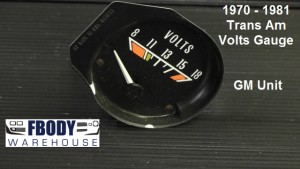 1975 - 1981 Trans Am Volts Gauge Used GM