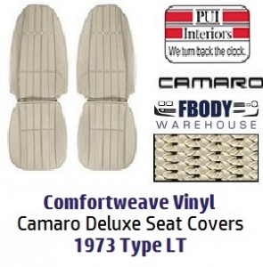 1973 Camaro High Back Seat Covers Deluxe Tyle LT Vinyl PUI ...