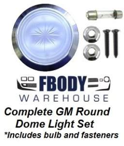 Camaro Trans Am 100% Complete replacement dome light set! With INSTALL VIDEO!
