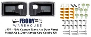 1970 - 1981 Door Panel Install Kit + Door Handle Cups SPECIAL