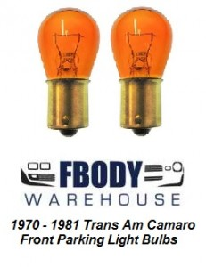 1970 - 1981 Camaro Trans Am Front Parking Lamp Bulbs