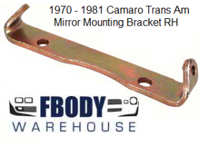 1970 - 1981 Camaro Trans Am Side Mirror Mounting Bracket