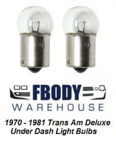1970-1981 TRANS AM CAMARO INTERIOR DOME LIGHT BULB