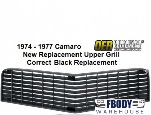 1974 - 1977 Camaro Black Upper Grill Z28 / Rally Sport