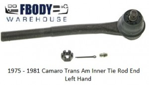 1975 - 1981 Camaro Trans Am Front Inner Tie Rod End LH