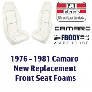 1976 - 1981 Camaro New Replacement Seat Foam Front Buckets DELUXE SEATS