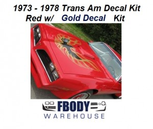 1973 - 1978 Trans Am Full Decal Kit 6 Available Colors!