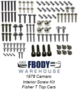 1978 Camaro Interior Screw Kit Fisher T Top Cars