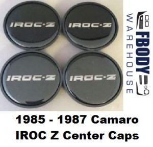 1985 - 1987  Camaro IROC Z28 Center Caps SILVER Set NEW Set of Four