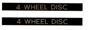 1977 - 1981 Trans Am 4 Wheel Disc Door Handle Decals.
