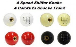 1967 - 1981 Camaro Trans Am 4 Speed Shift Knob 4 Colors to Choose From! (3/8 course thread)
