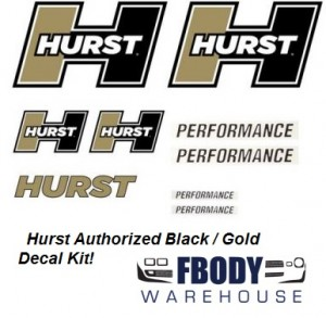 Hurst Decal Kit Gold / White / Black 10 pc Kit