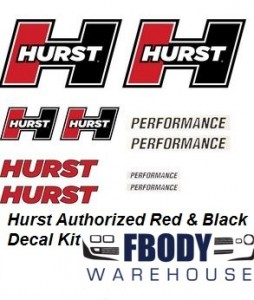 Hurst Decal Kit Red / White / Black 10 pc Kit
