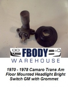 1970 - 1978 Camaro Trans Am Floor Mounted Dimmer Switch Set Used GM