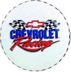 Chevrolet Bar Stool 30 Inch Tall White With Chevrolet Racing Logo