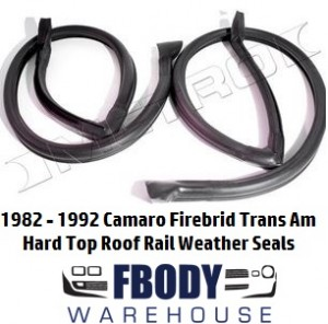 1982 - 1992 Camaro Trans Am Roof Rail Seals PAIR Metro Moulded