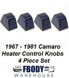 1969 - 1981Camaro  Trans Am Heater Control Knobs NEW Black or Chrome Available