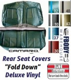 1967 Camaro DELUXE Rear Seat Covers Set Fold Down Style