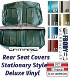 1967 Camaro DELUXE Rear Seat Covers Set Stationary