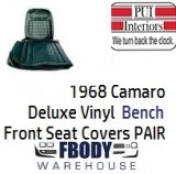 1968 Camaro DELUXE Bench Front Seat Covers Pair Vinyl