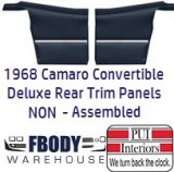 1968 -1969 Camaro Convertible DELUXE Rear Interior Panels 11 Colors NON Assembled