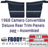 1968 - 1969 Camaro Convertible DELUXE Rear Interior Panels 11 Colors FULLY Assembled